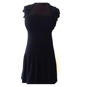 Dots black sweater dress